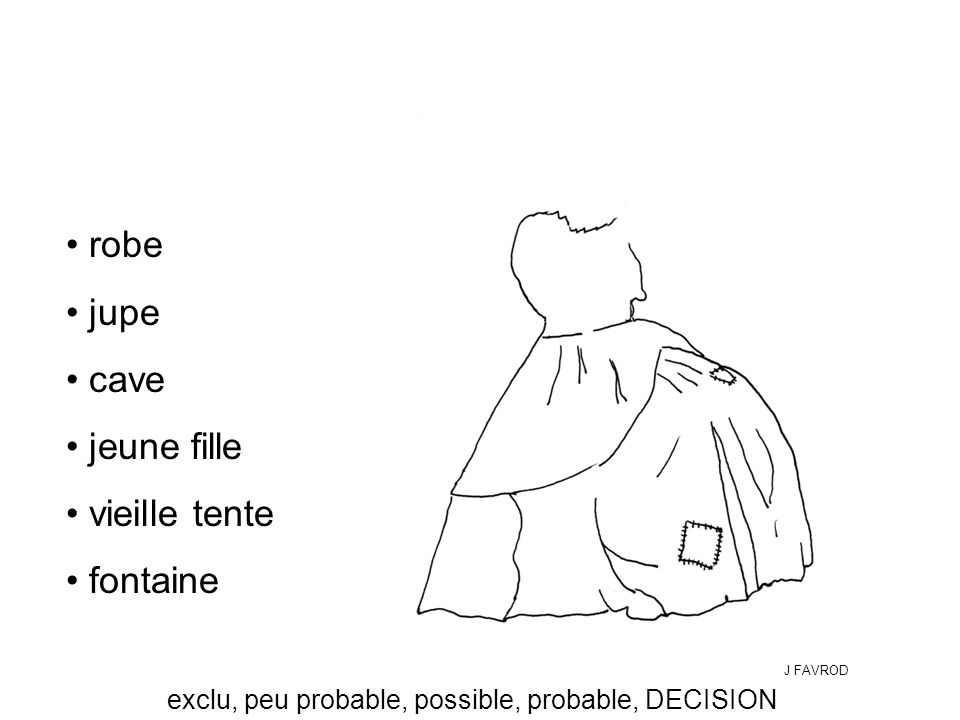 exclu, peu probable, possible, probable, DECISION