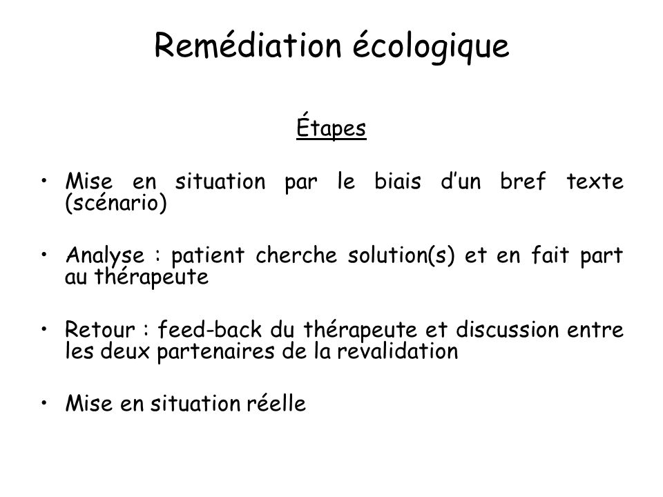 Remédiation écologique