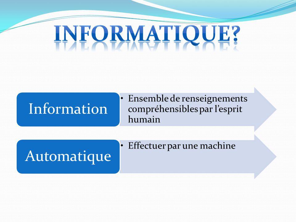 Informatique Information