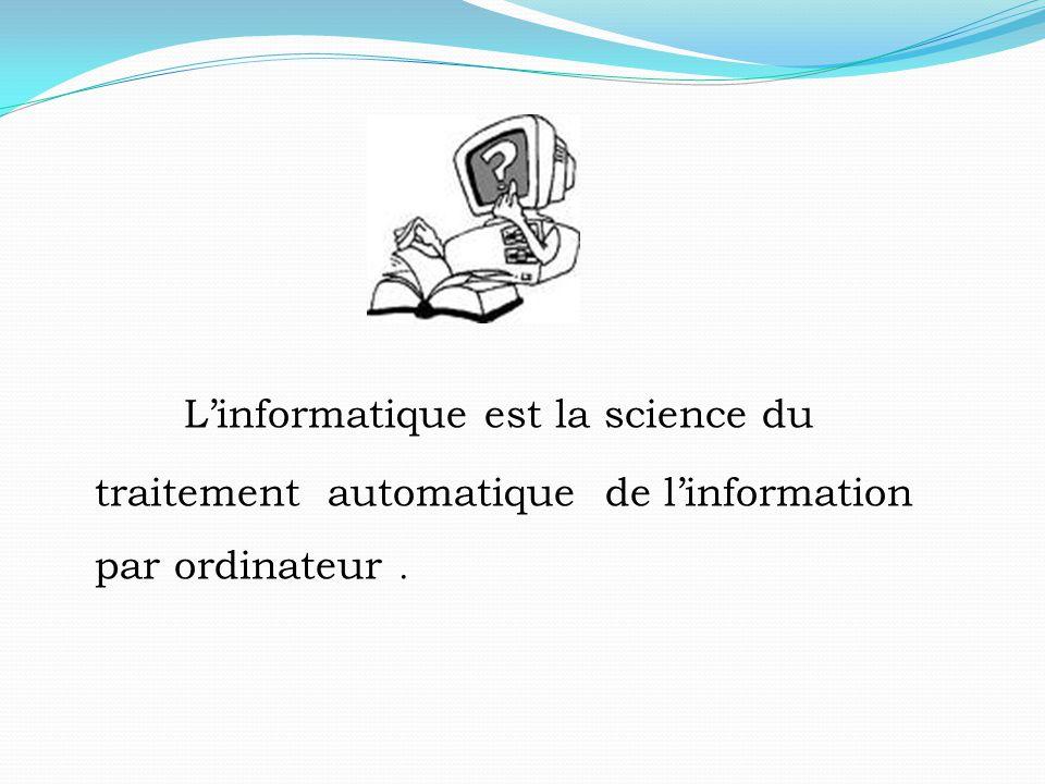 L'informatique est la science du traitement automatique de l'information par ordinateur .