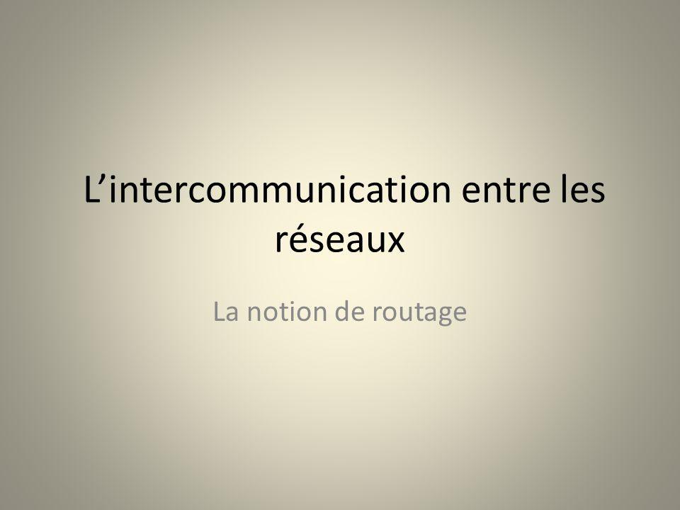 L'intercommunication entre les réseaux