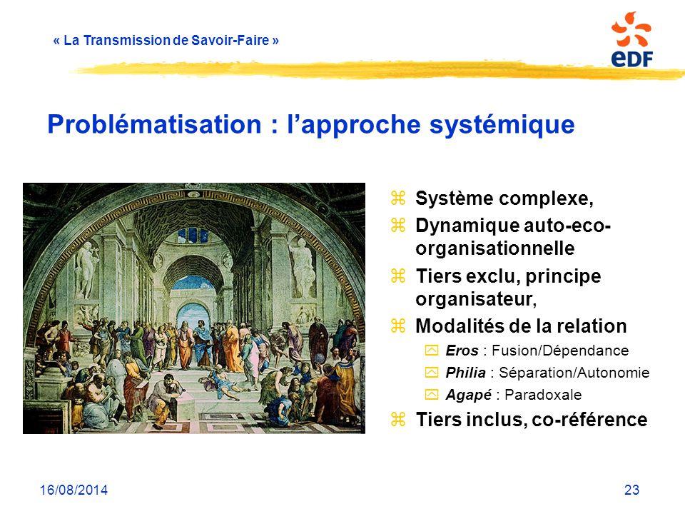 Problématisation : l'approche systémique