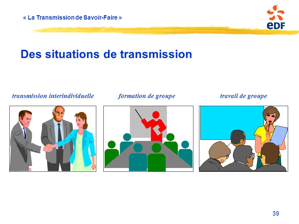 Des situations de transmission
