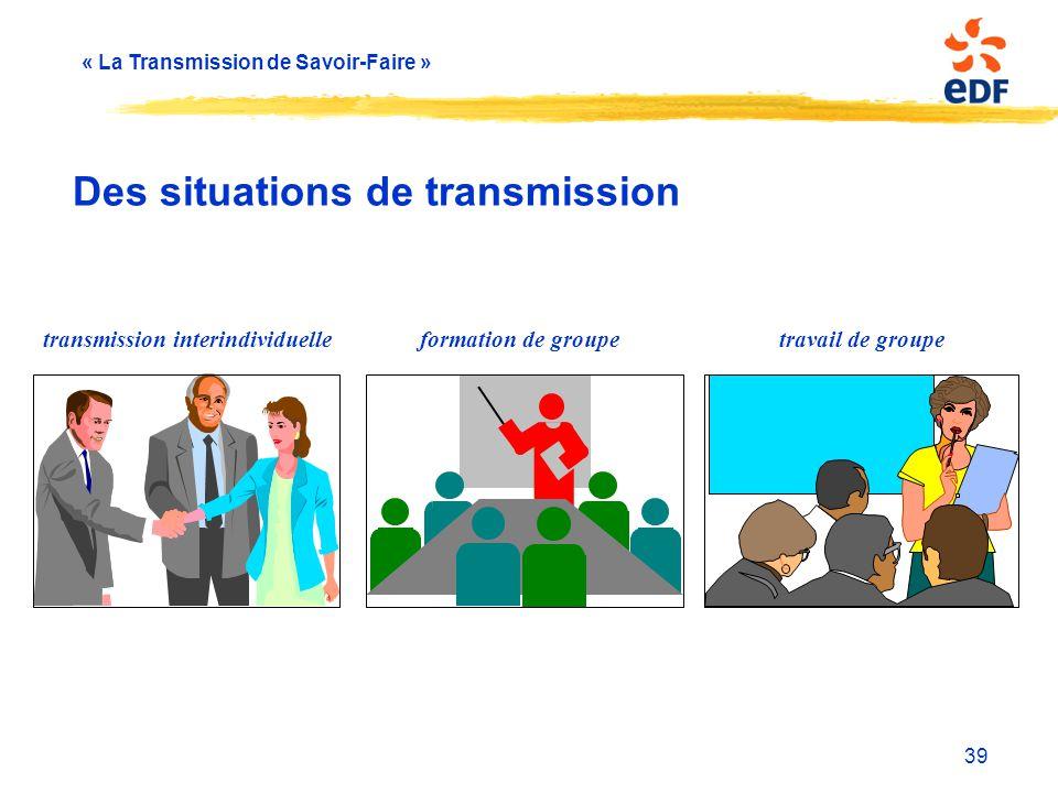 Des situations de transmission