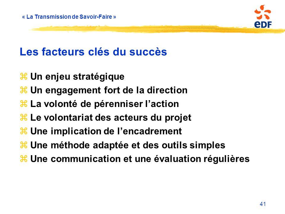 Les facteurs clés du succès