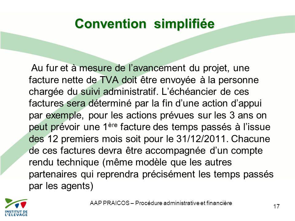 Convention simplifiée