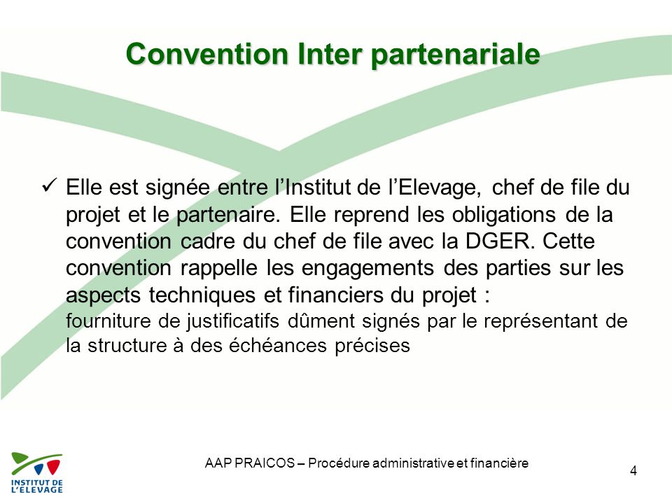 Convention Inter partenariale