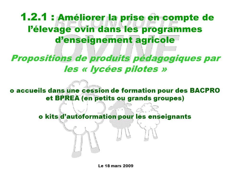 Propositions de produits pédagogiques par les « lycées pilotes »