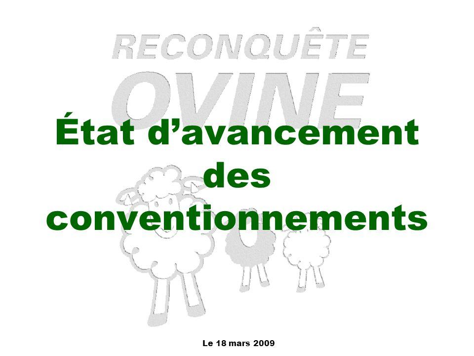État d'avancement des conventionnements
