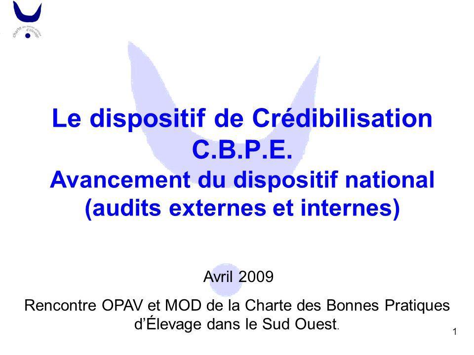 Le dispositif de Crédibilisation C. B. P. E