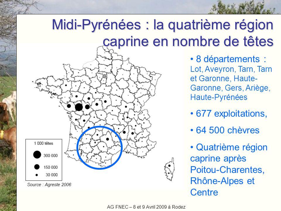 Midi-Pyrénées : la quatrième région caprine en nombre de têtes