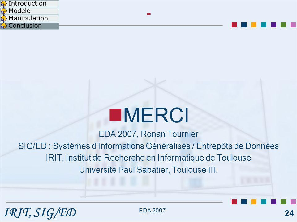 MERCI - EDA 2007, Ronan Tournier