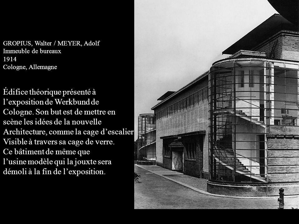 Édifice théorique présenté à l'exposition de Werkbund de