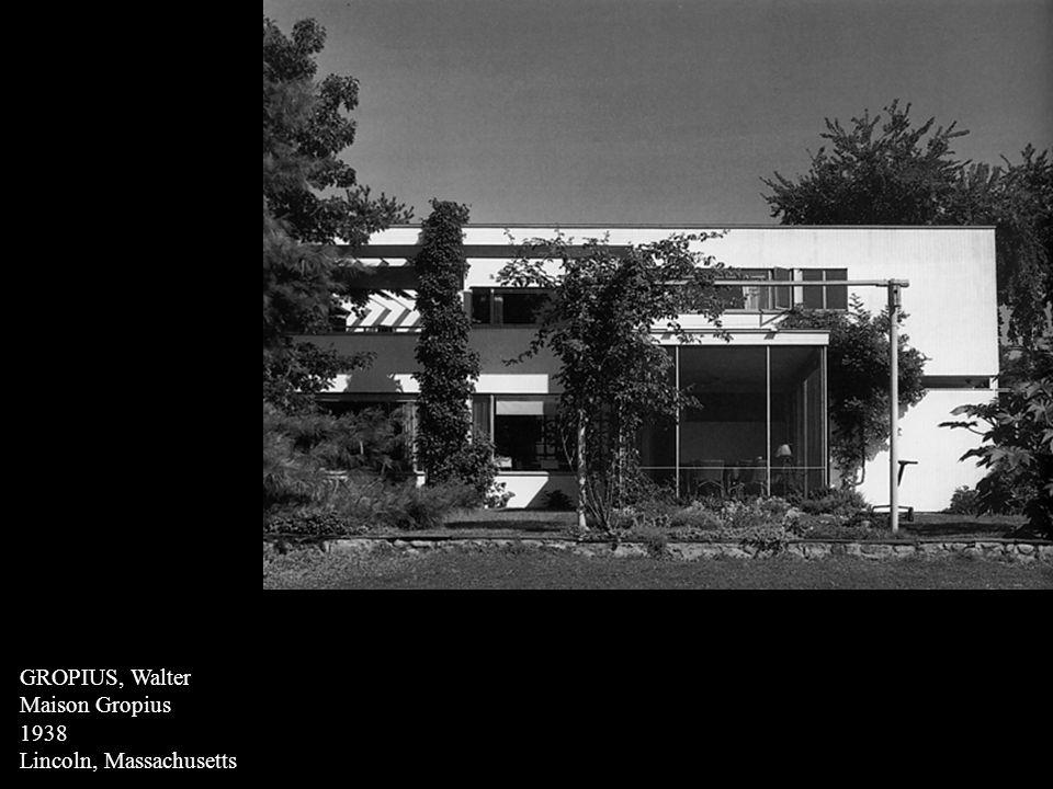 GROPIUS, Walter Maison Gropius 1938 Lincoln, Massachusetts