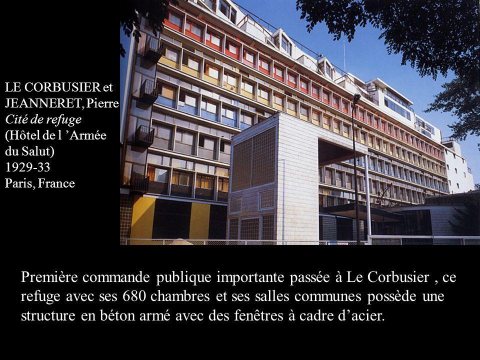 Première commande publique importante passée à Le Corbusier , ce