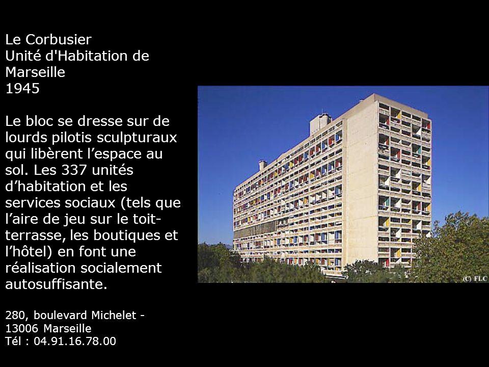 Unité d Habitation de Marseille 1945