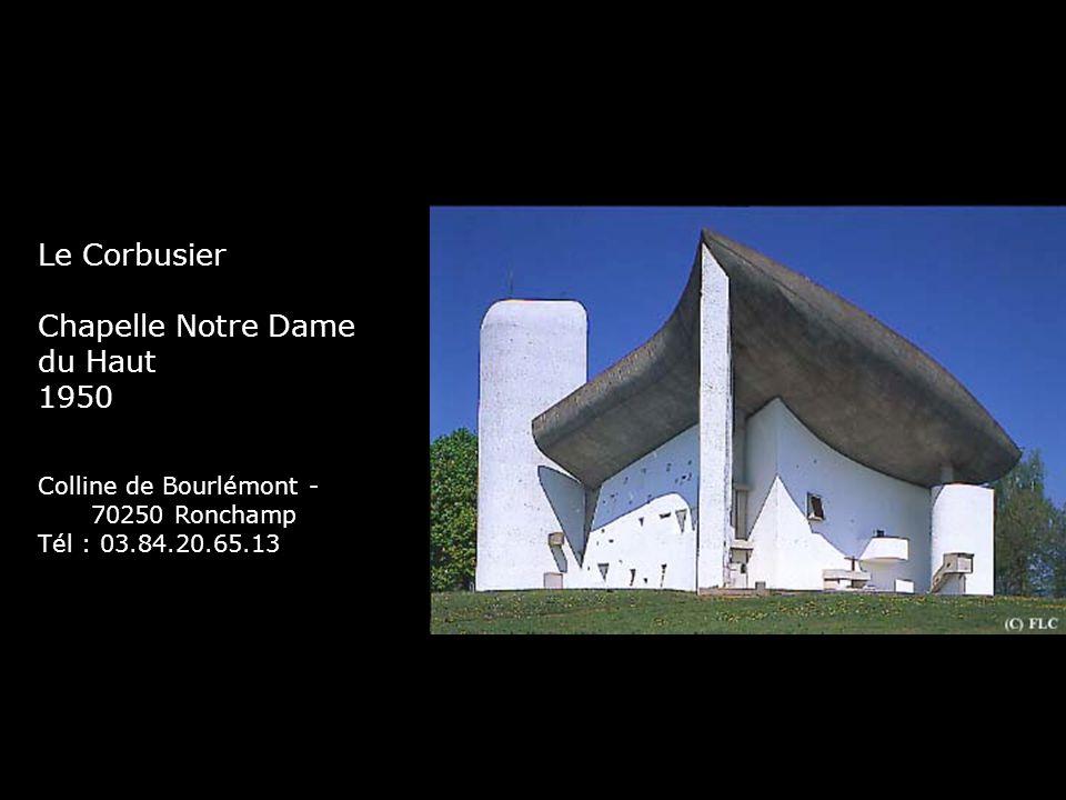 Le Corbusier Chapelle Notre Dame du Haut 1950