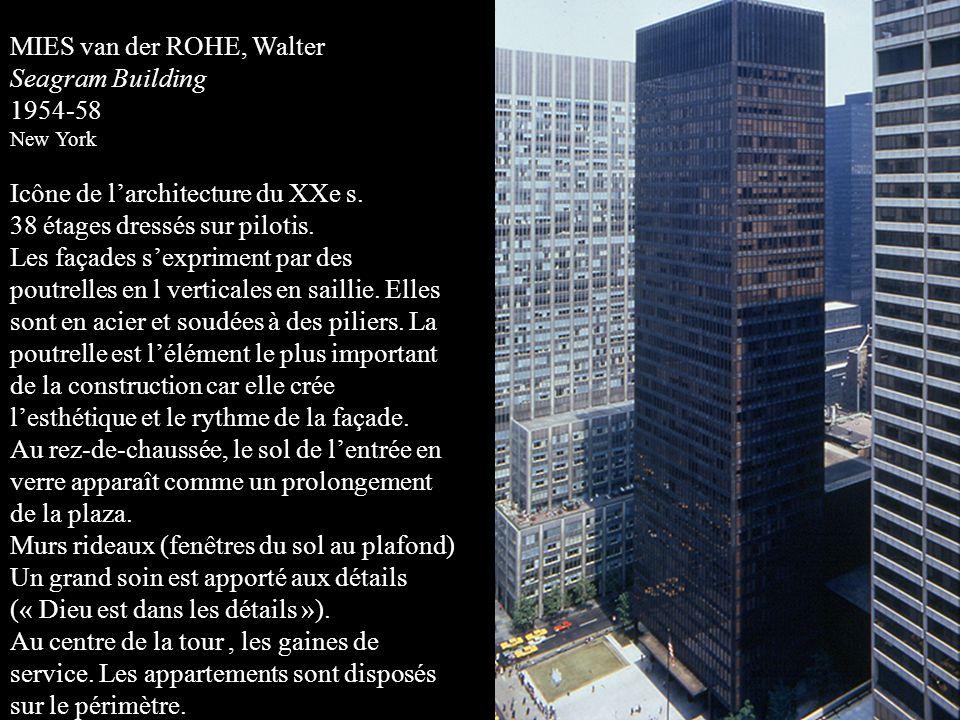 MIES van der ROHE, Walter Seagram Building 1954-58