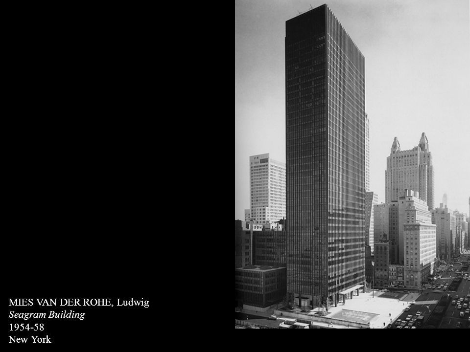 Adolf loos ppt video online t l charger for Seagram building ppt