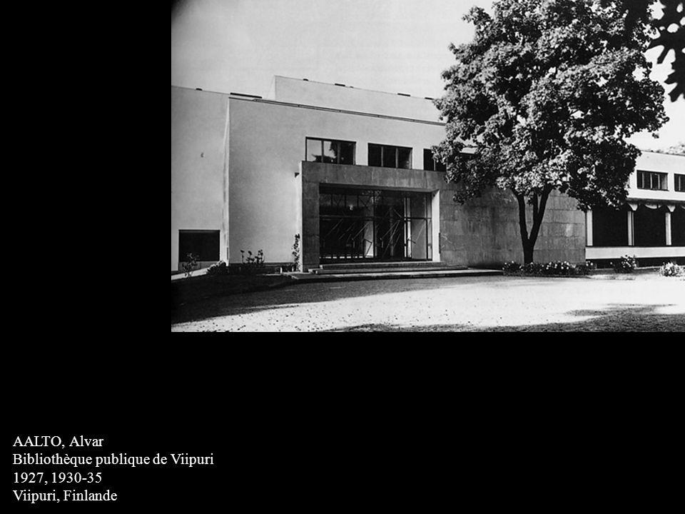 AALTO, Alvar Bibliothèque publique de Viipuri 1927, 1930-35 Viipuri, Finlande