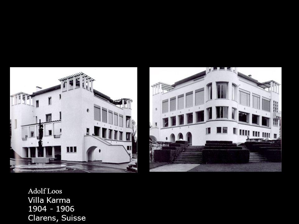 Adolf Loos Villa Karma 1904 - 1906 Clarens, Suisse