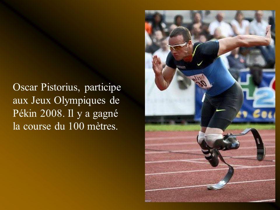 Oscar Pistorius, participe aux Jeux Olympiques de Pékin 2008