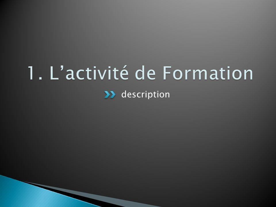 1. L'activité de Formation