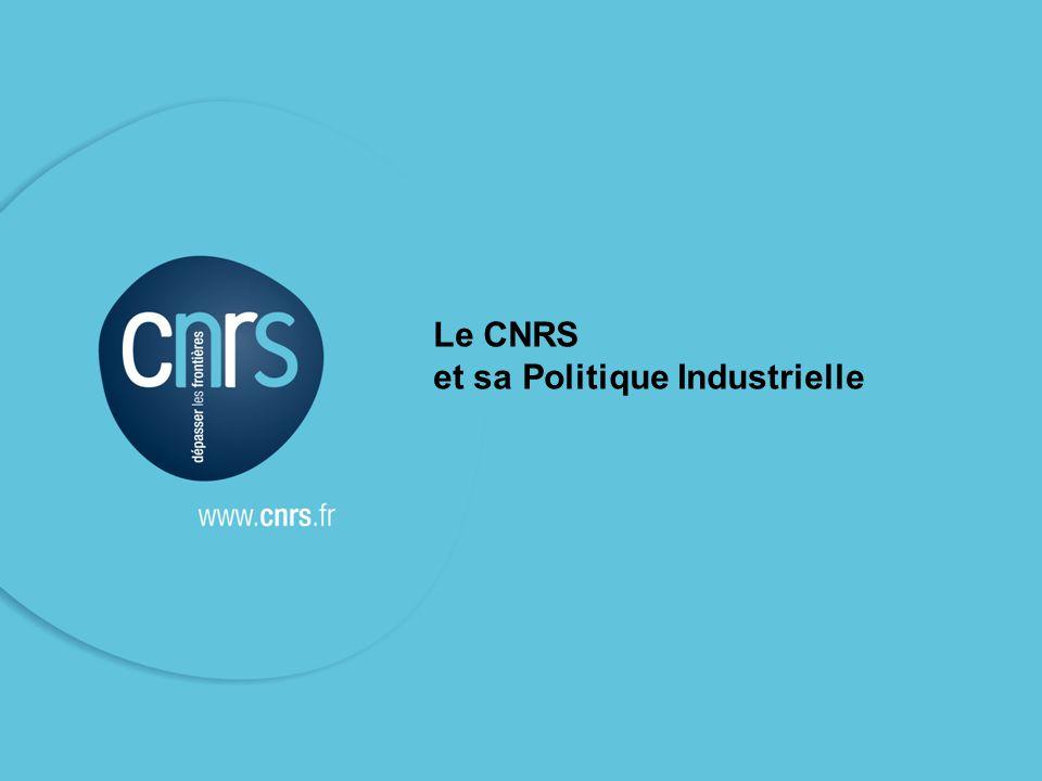 Le CNRS et sa Politique Industrielle
