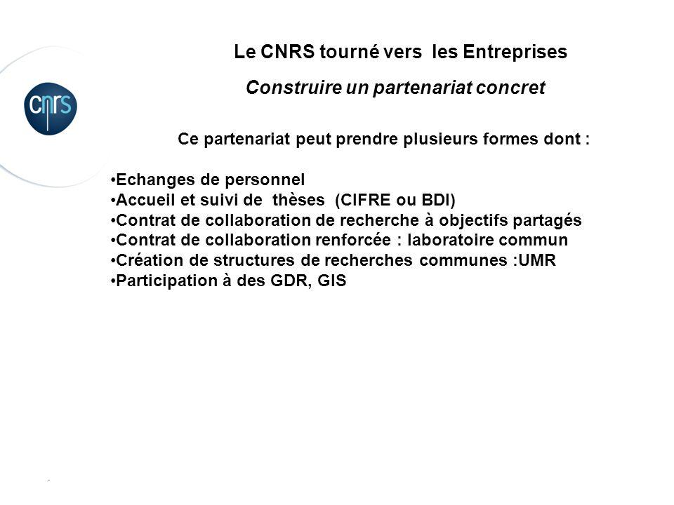 Le CNRS tourné vers les Entreprises