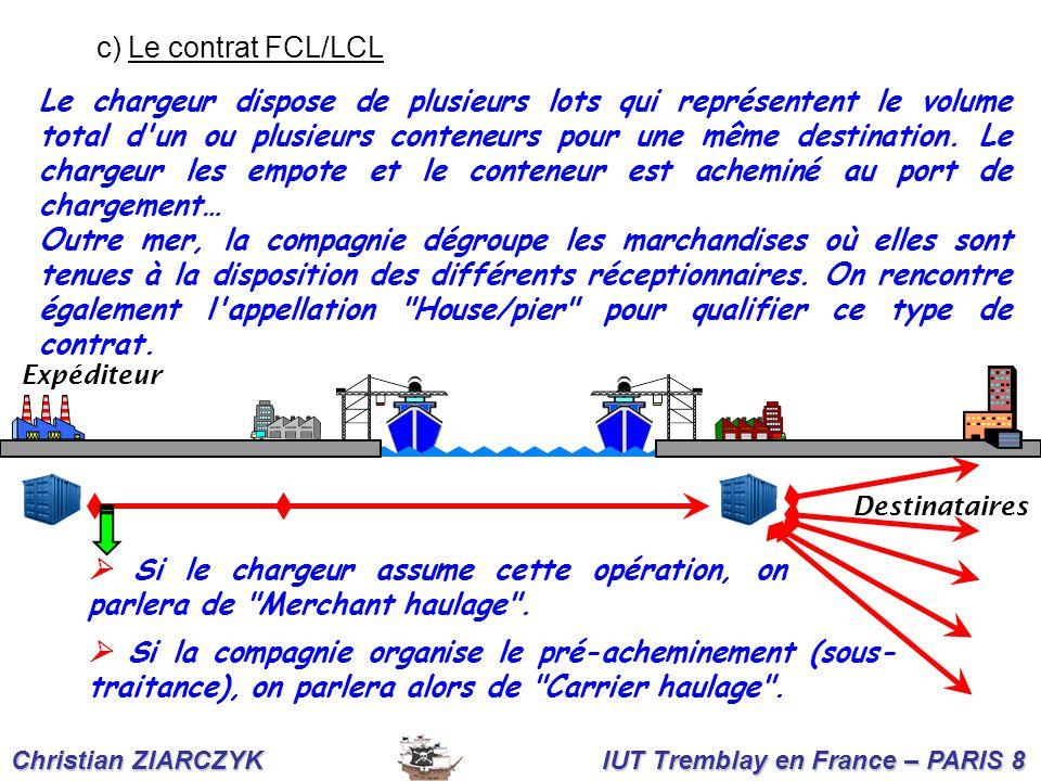 c) Le contrat FCL/LCL