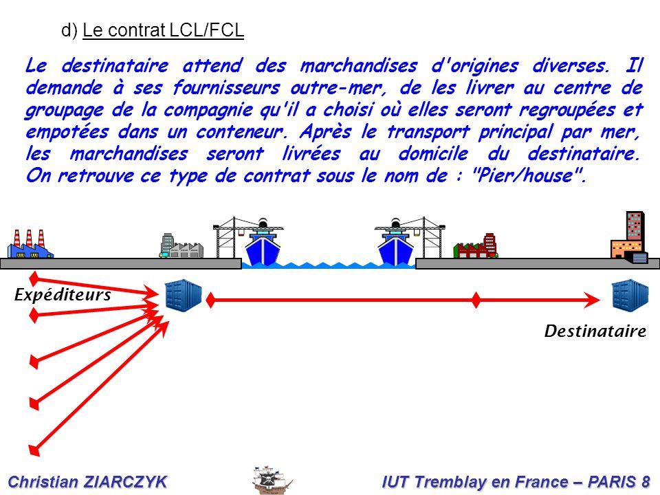 d) Le contrat LCL/FCL
