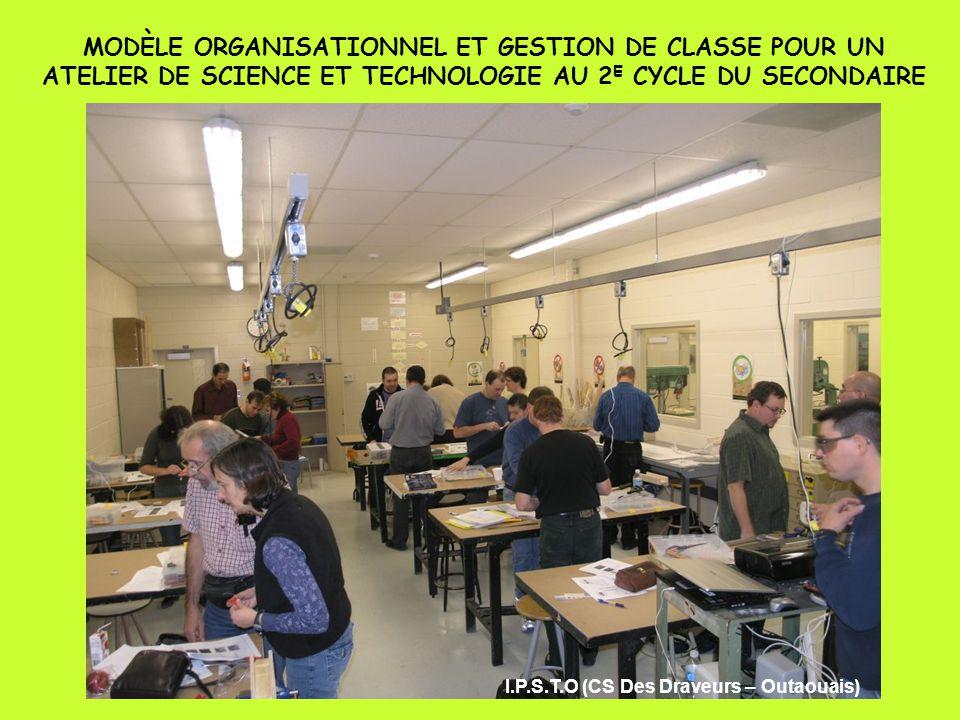 MODÈLE ORGANISATIONNEL ET GESTION DE CLASSE POUR UN ATELIER DE SCIENCE ET TECHNOLOGIE AU 2E CYCLE DU SECONDAIRE