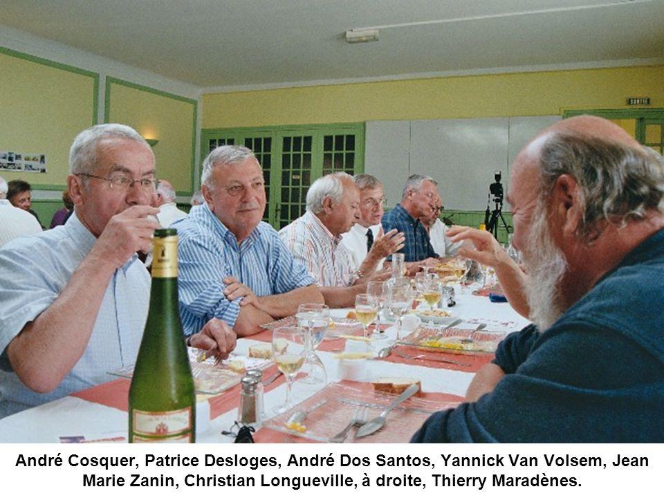 André Cosquer, Patrice Desloges, André Dos Santos, Yannick Van Volsem, Jean Marie Zanin, Christian Longueville, à droite, Thierry Maradènes.