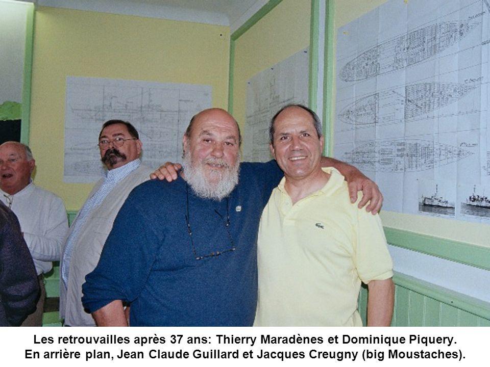 Les retrouvailles après 37 ans: Thierry Maradènes et Dominique Piquery