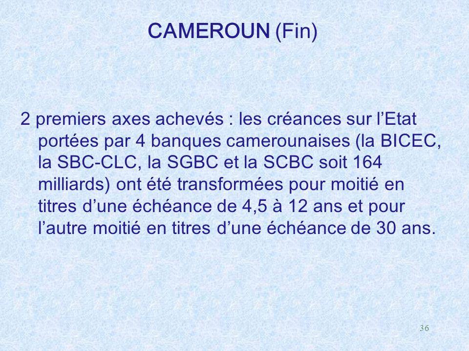 CAMEROUN (Fin)