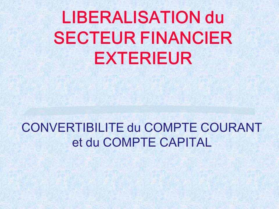 LIBERALISATION du SECTEUR FINANCIER EXTERIEUR