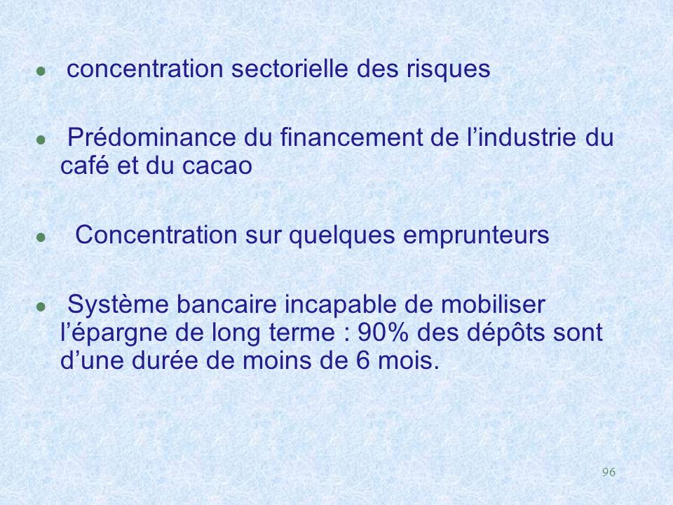 concentration sectorielle des risques