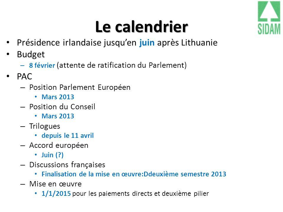 Le calendrier Présidence irlandaise jusqu'en juin après Lithuanie
