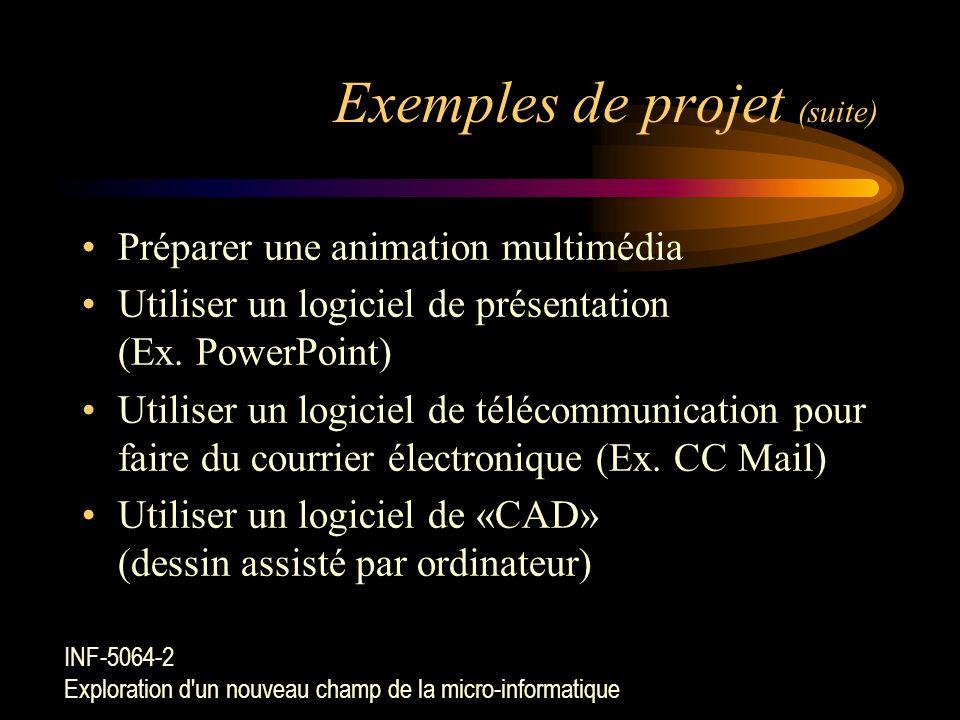 Exemples de projet (suite)