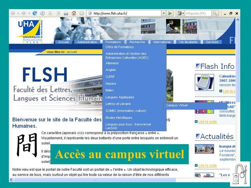 Accès au campus virtuel