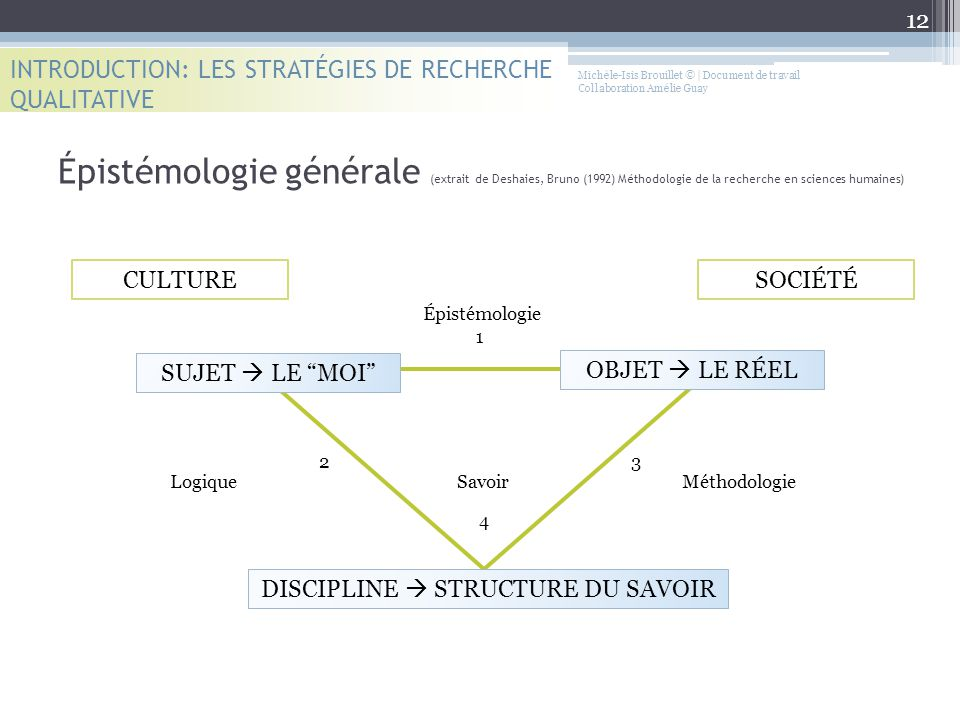 DISCIPLINE  STRUCTURE DU SAVOIR