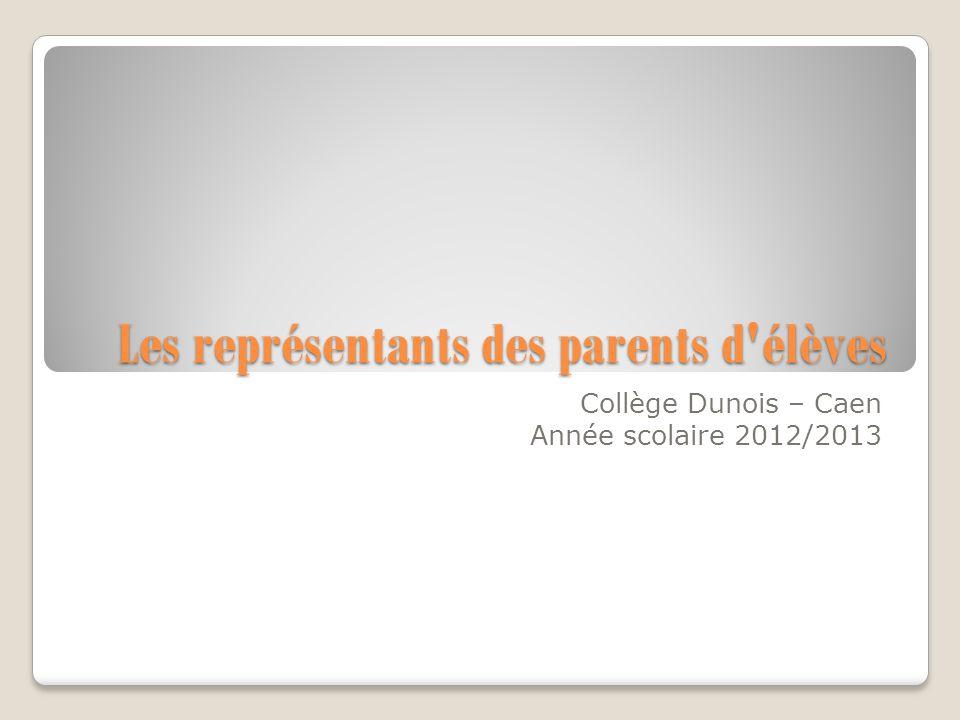 Les représentants des parents d élèves