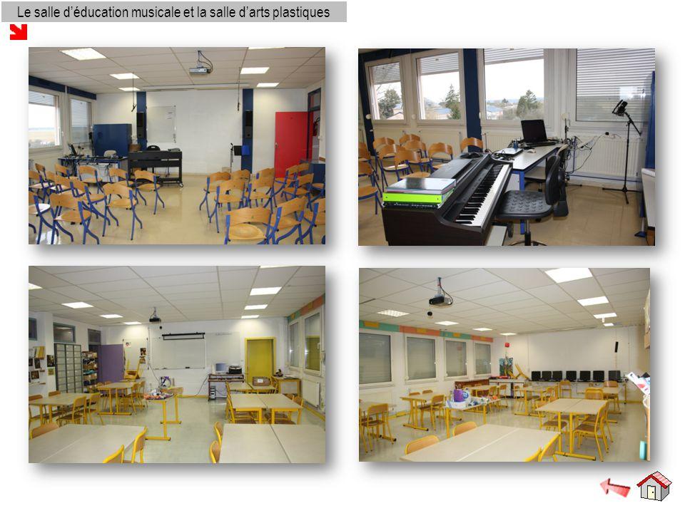 Le salle d'éducation musicale et la salle d'arts plastiques