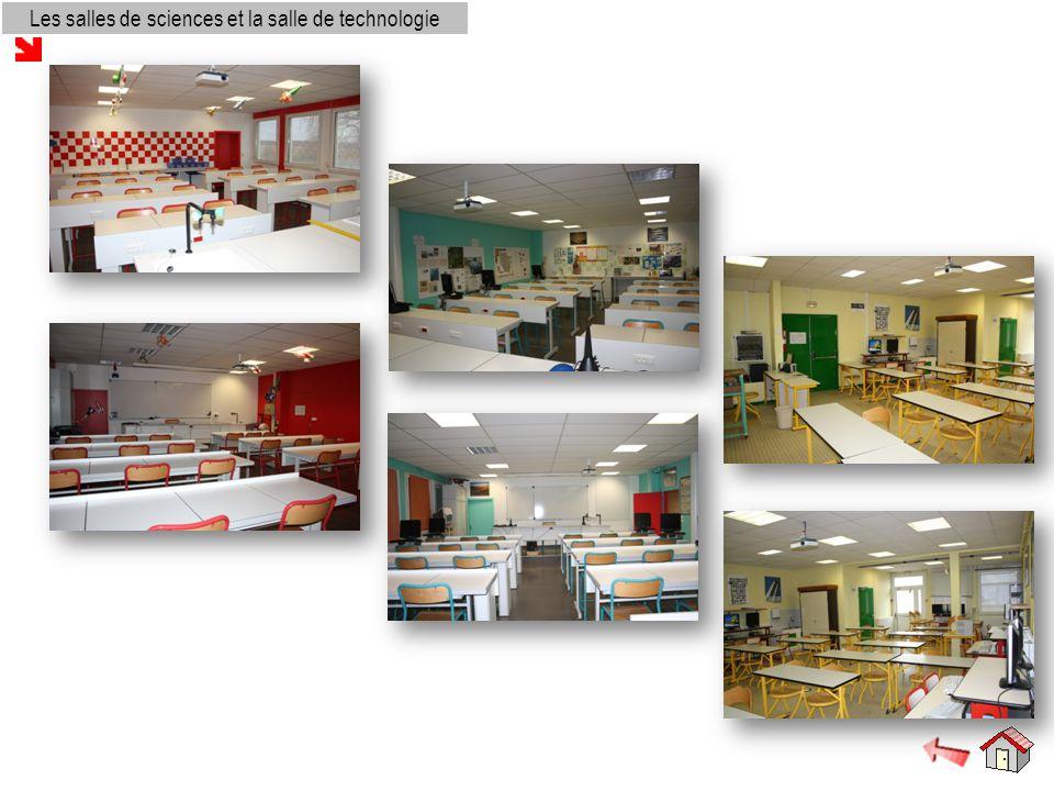 Les salles de sciences et la salle de technologie