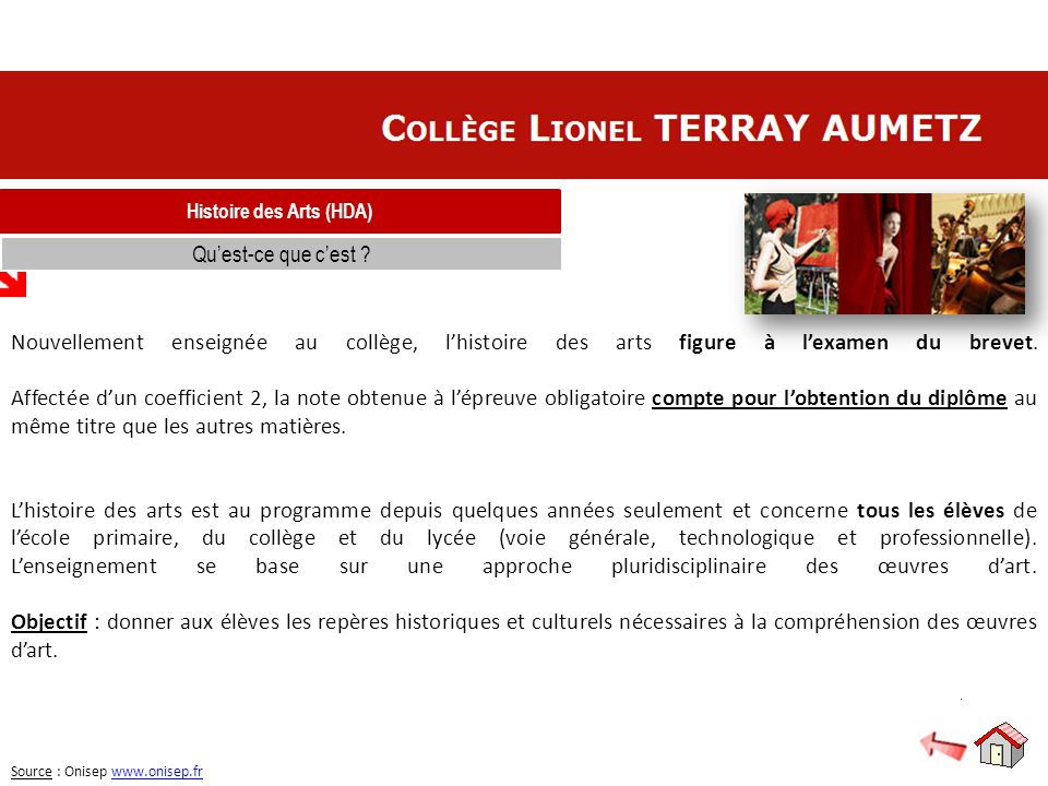 Histoire des Arts (HDA)