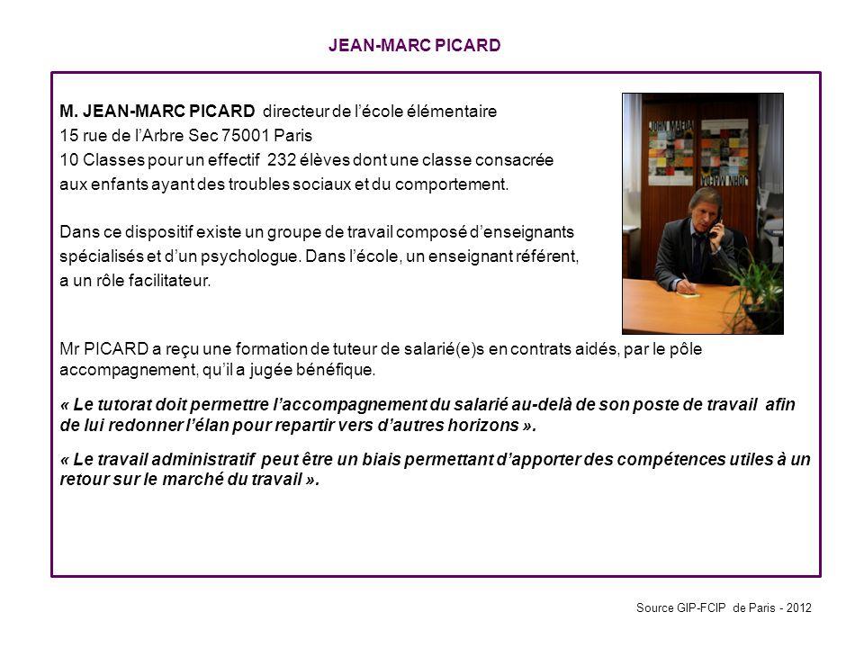 M. JEAN-MARC PICARD directeur de l'école élémentaire
