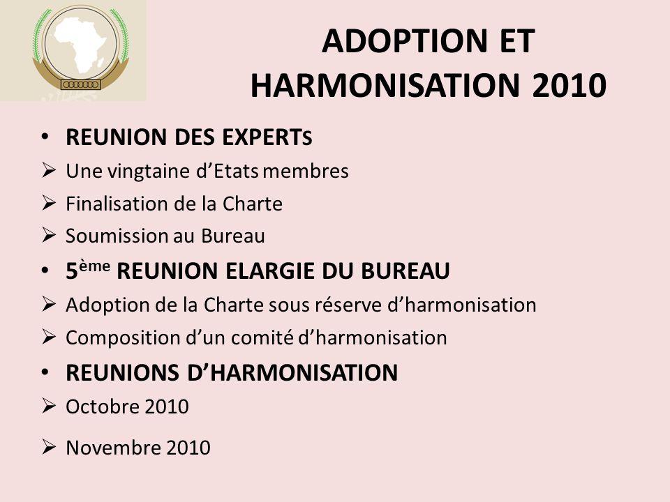 ADOPTION ET HARMONISATION 2010