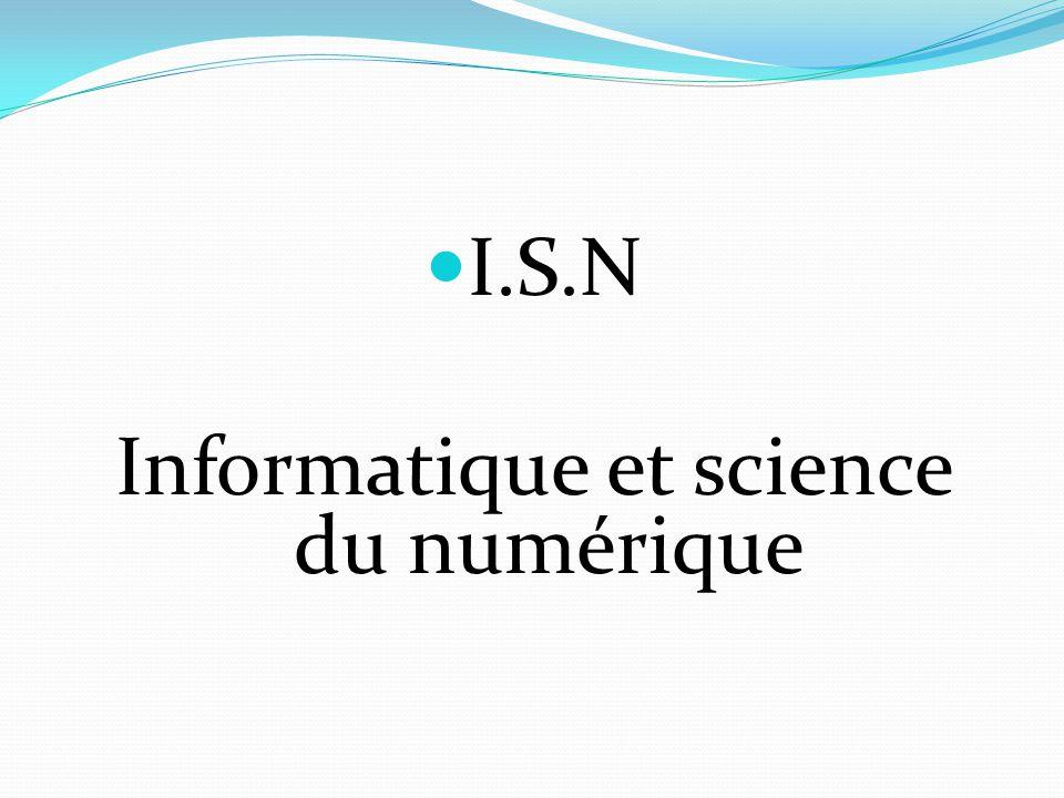 Informatique et science du numérique