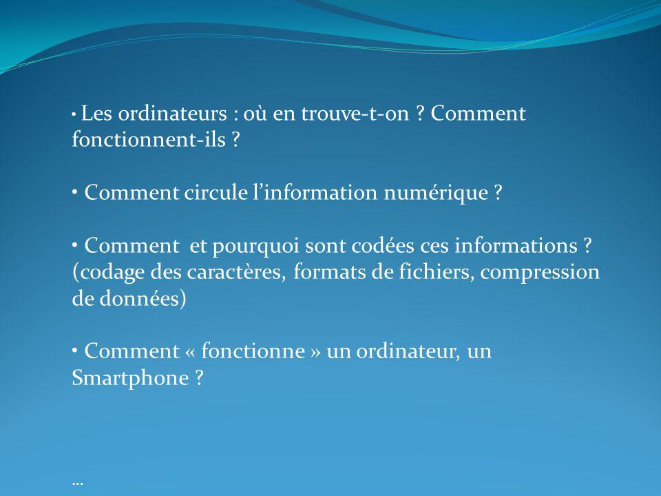• Comment circule l'information numérique