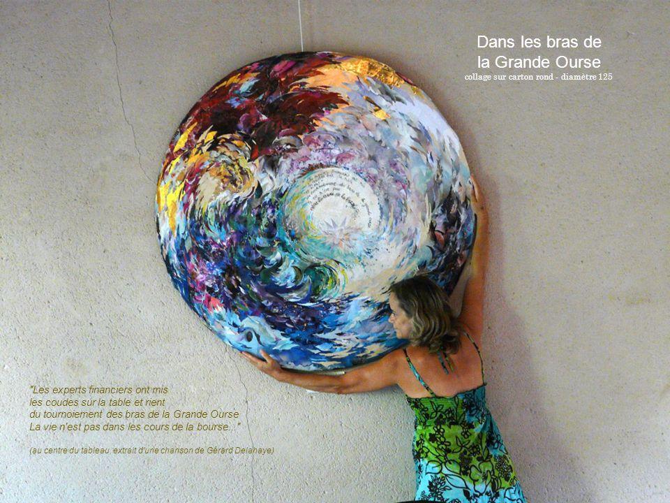 collage sur carton rond - diamètre 125